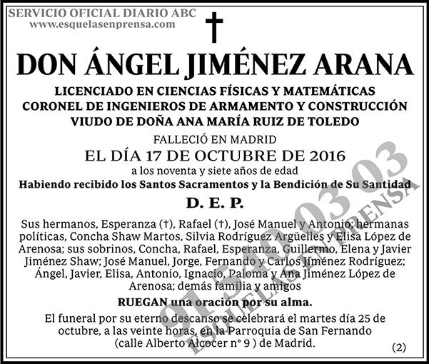 Ángel Jiménez Arana